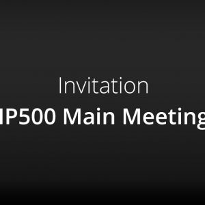 Invitation – IP500 Main Meeting in Arnsberg, Germany