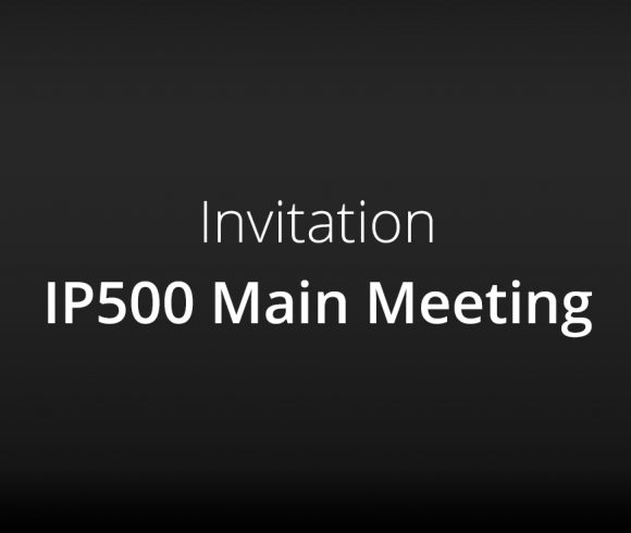 Invitation – IP500 Main Meeting in Arnsberg, Germany