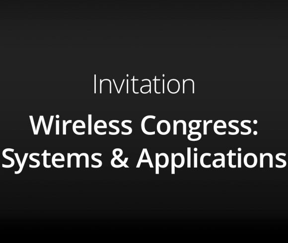 Invitation – Wireless Congress: Systems & Applications